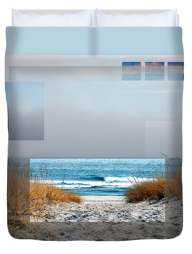 Beach Duvet Cover featuring the photograph Beach Collage by Steve Karol