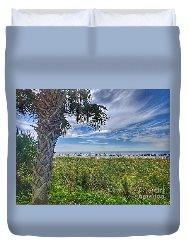 Duvet Cover featuring the photograph Beach Days by Noel Adams
