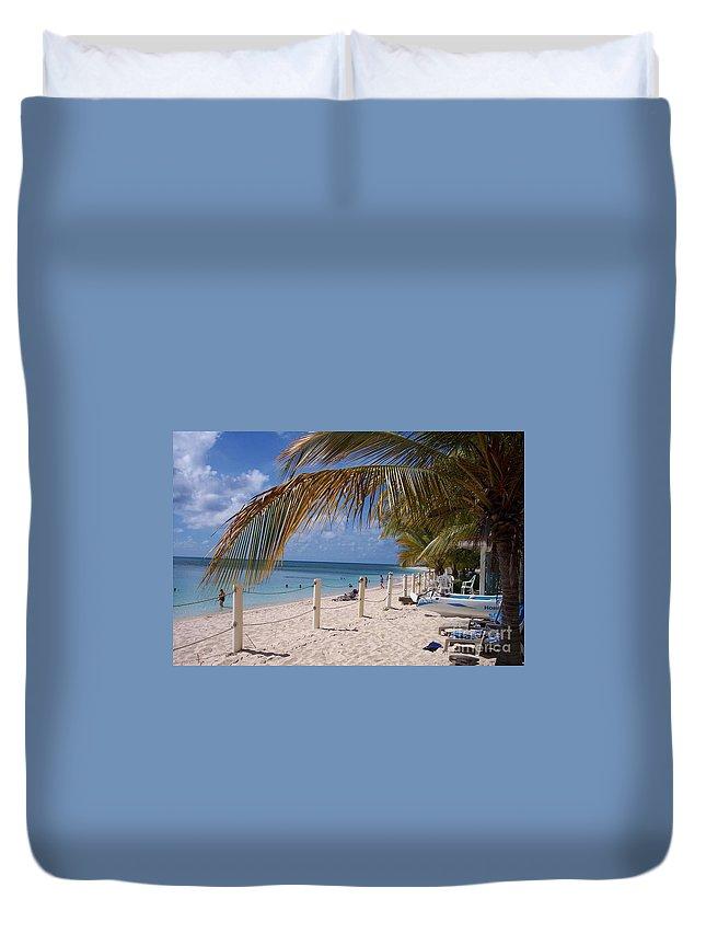 Beach Duvet Cover featuring the photograph Beach Grand Turk by Debbi Granruth