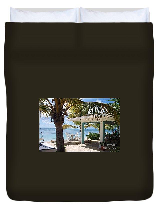 Beach Duvet Cover featuring the photograph Beach In Grand Turk by Debbi Granruth