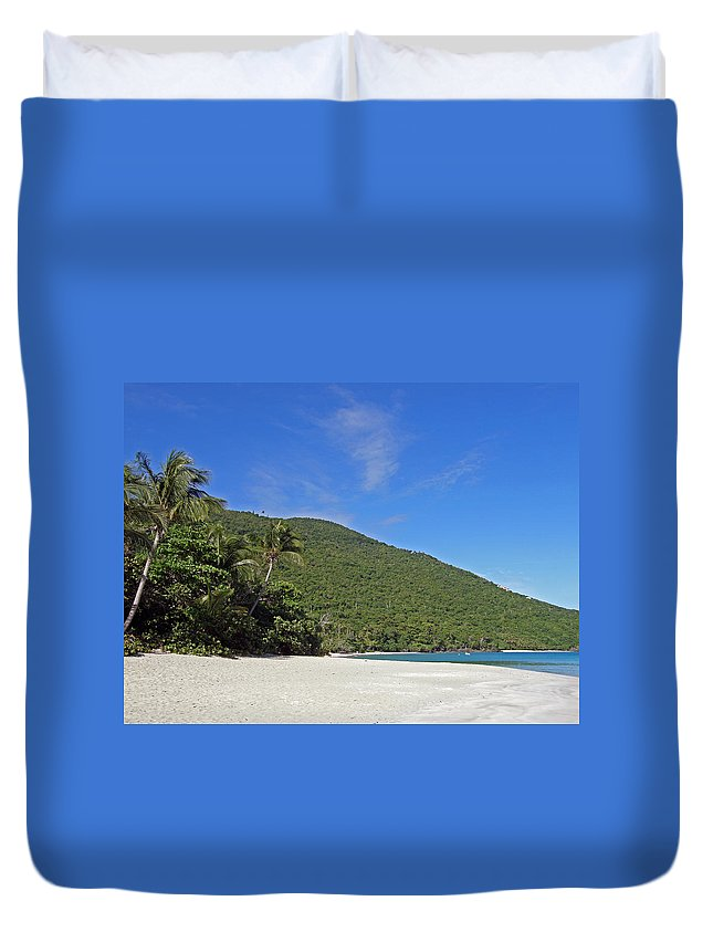 Ocean Duvet Cover featuring the photograph Beach by Kimberly Mohlenhoff