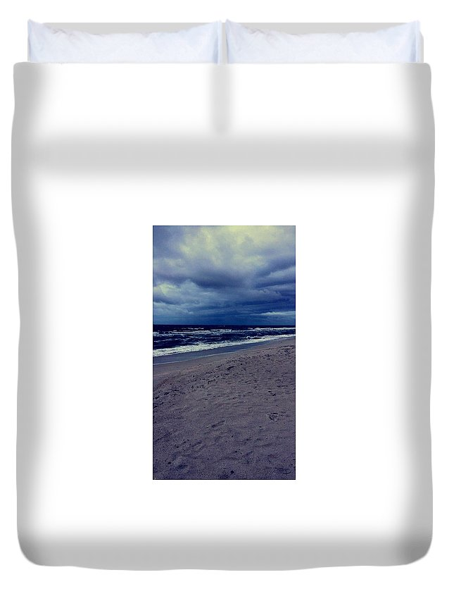 Duvet Cover featuring the photograph Beach by Kristina Lebron