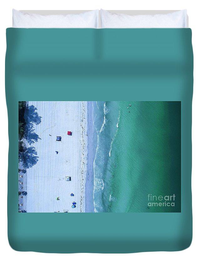 Beach Duvet Cover featuring the photograph Beach by Patrick Donovan