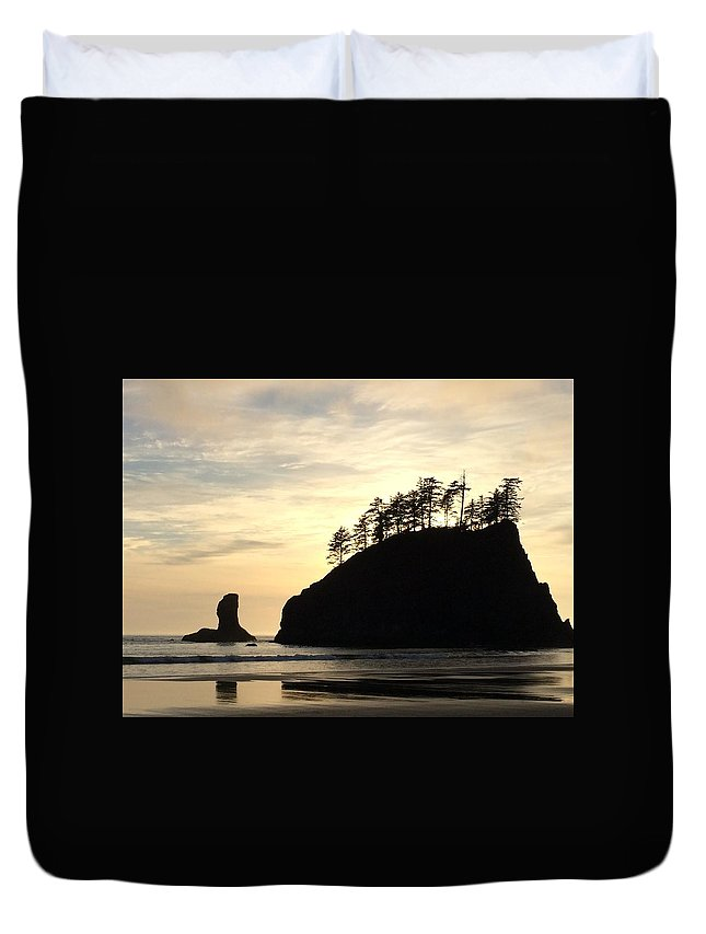 Beach Duvet Cover featuring the photograph Beach Reflections by Megan Thompson