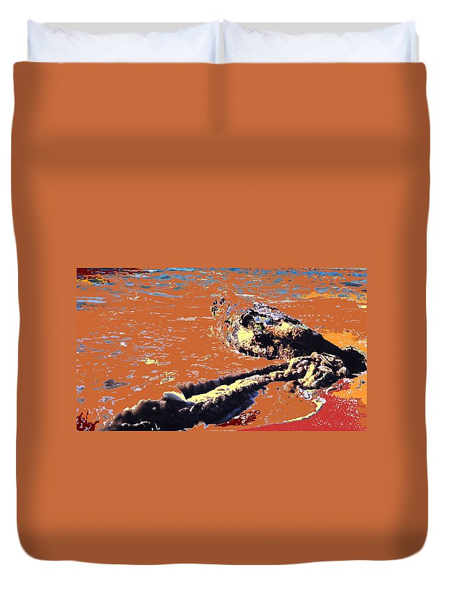 Rope Duvet Cover featuring the photograph Beach Rope by Ian MacDonald