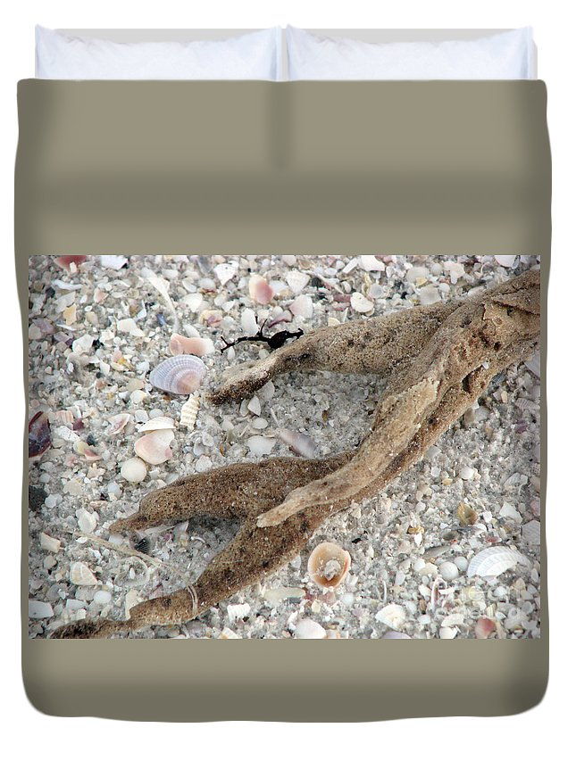 Sand Duvet Cover featuring the photograph Beach Scape by Amanda Barcon