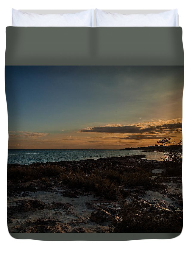Beach Duvet Cover featuring the photograph Beach Sunrise by Nathan Masters