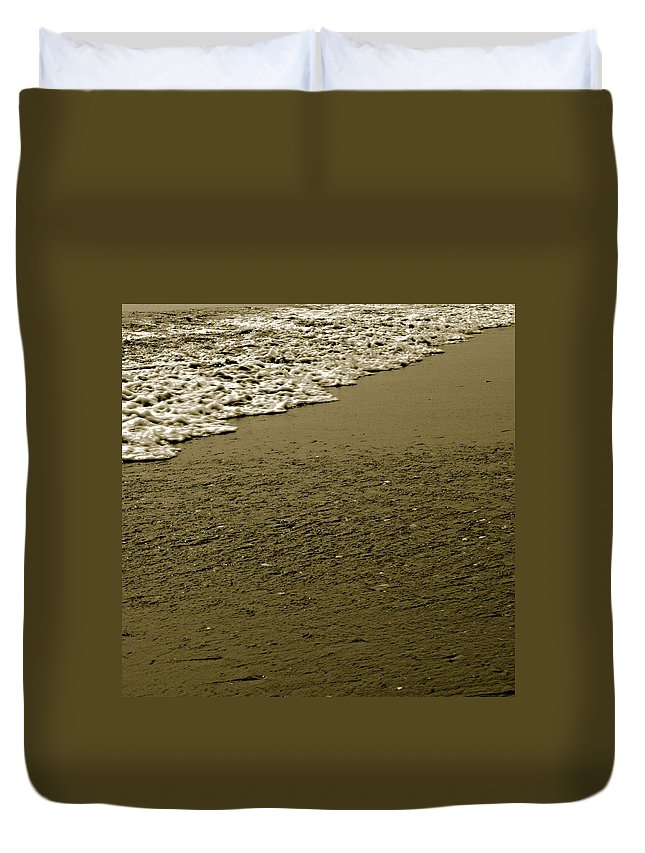 Water Duvet Cover featuring the photograph Beach Texture by Jean Macaluso
