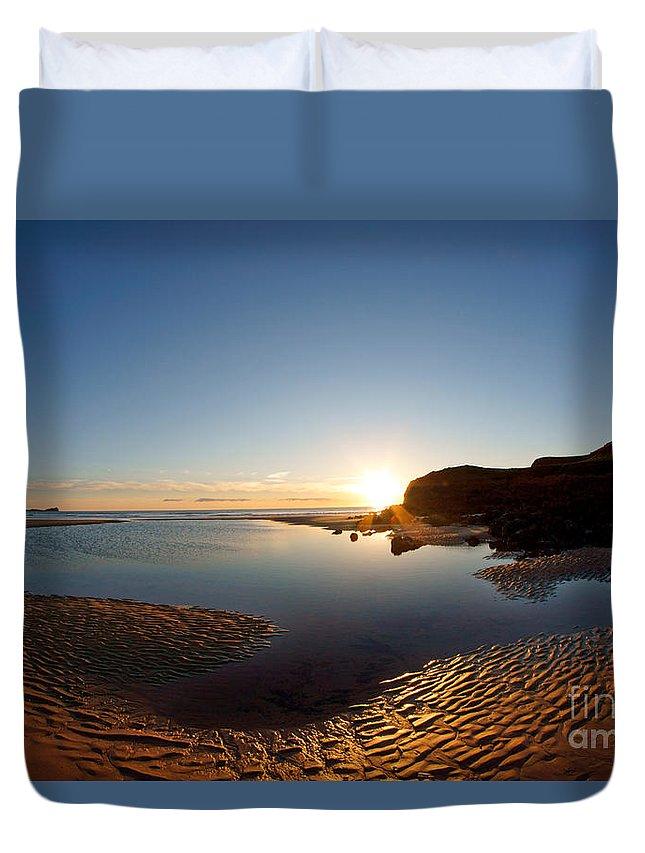 Llangennith Duvet Cover featuring the photograph Beach Textures by Minolta D