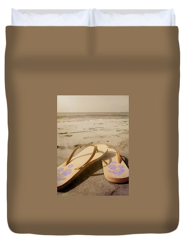 Beach Duvet Cover featuring the photograph Beach Therapy by JAMART Photography