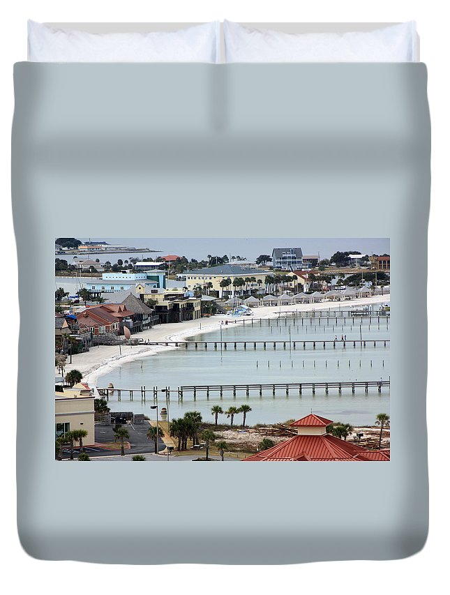 Beach Duvet Cover featuring the photograph Beach Town by Tamivision