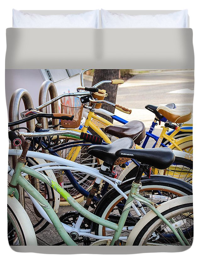 Beach Duvet Cover featuring the photograph Beach Vibes by Dylan Strachan