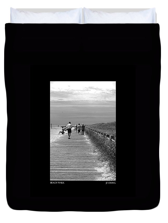 Boardwalk Duvet Cover featuring the photograph Beach Walk by J Todd