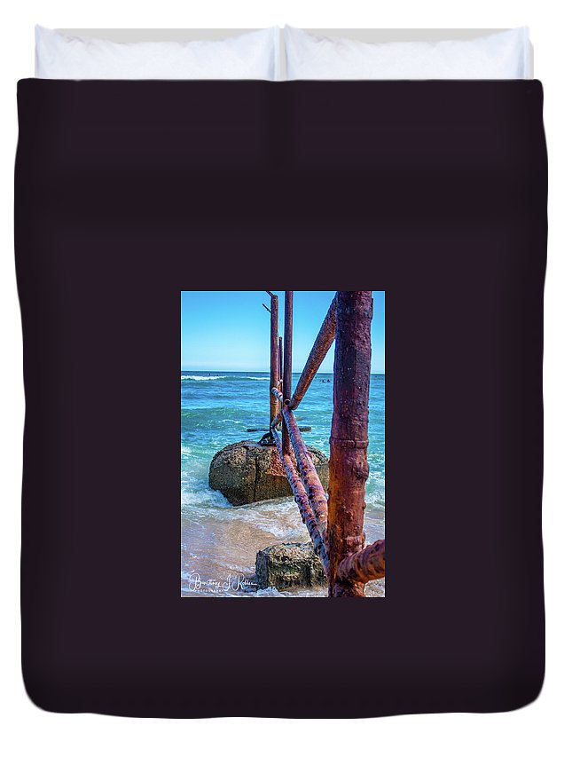 Duvet Cover featuring the photograph Beach Wall by Brittney Robles