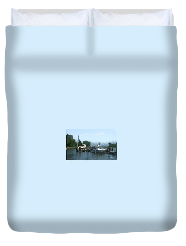 Boat Duvet Cover featuring the photograph Beached Buoys by Debbi Granruth
