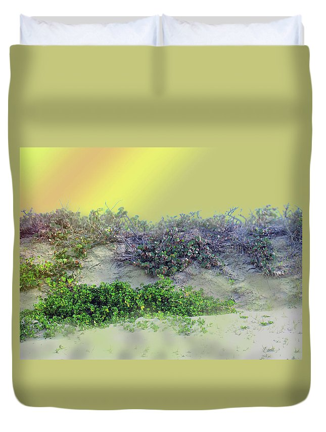 Beach Duvet Cover featuring the photograph Beached by Ian MacDonald