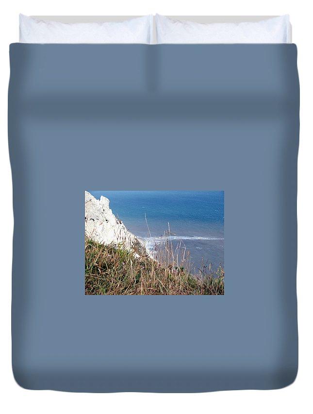 Beachy Head Duvet Cover featuring the photograph Beachy Head Sussex by Heather Lennox