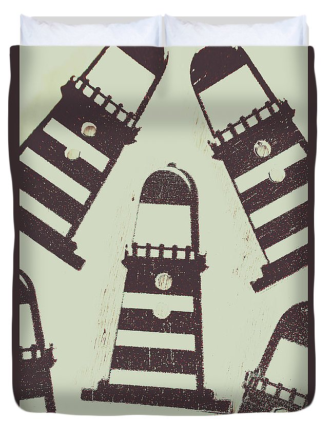 Tower Duvet Cover featuring the photograph Beacon Buttons by Jorgo Photography - Wall Art Gallery