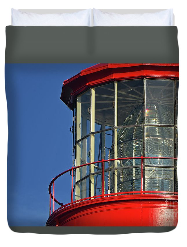 North Florida Duvet Cover featuring the photograph Beacon by Rick Bravo