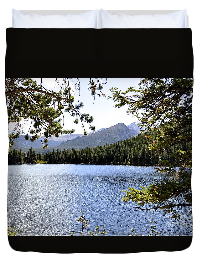 Nature Duvet Cover featuring the photograph Bear Lake Rmnp by Nava Thompson