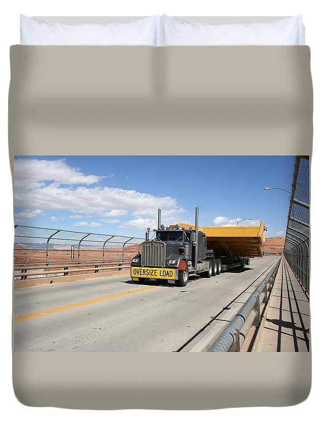 Truck Duvet Cover featuring the photograph Bear Load by Christiane Schulze Art And Photography