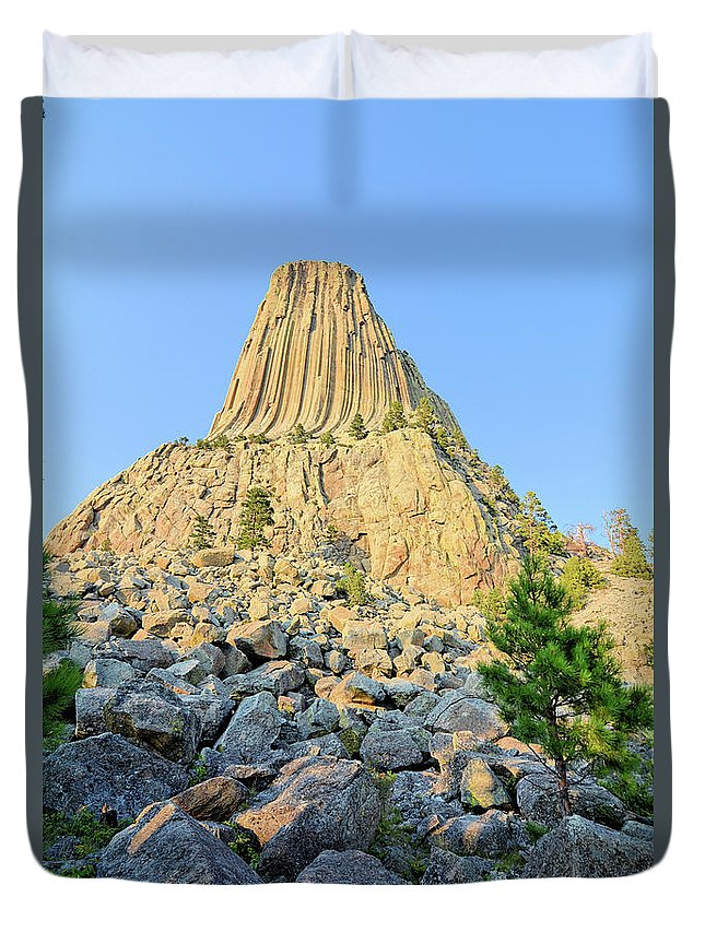 Tower Duvet Cover featuring the photograph Bear Lodge by Bonfire Photography