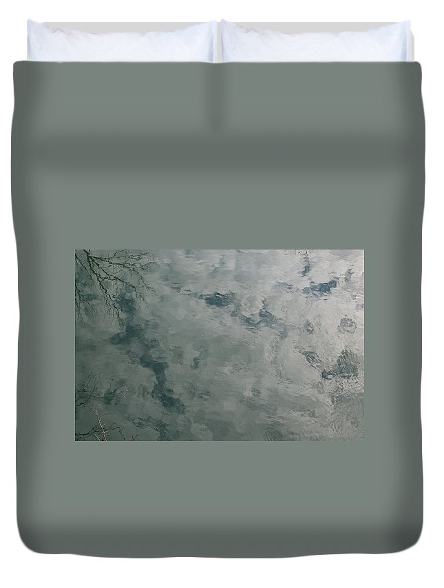 Bear Duvet Cover featuring the photograph Bear Monster In The Sky Water by Douglas Barnett
