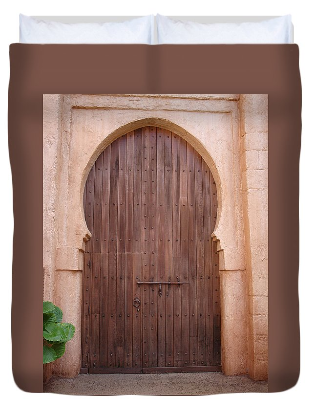Arch Duvet Cover featuring the photograph Beautiful Arched Doors by Kim Chernecky