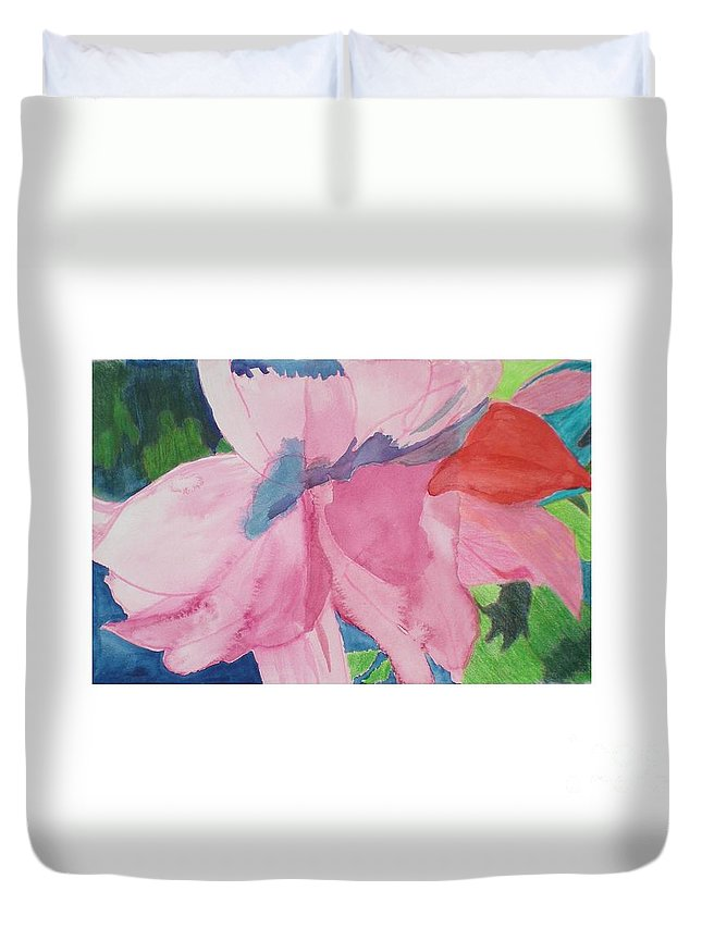 Flower Duvet Cover featuring the painting Beautiful Azalea by Hal Newhouser