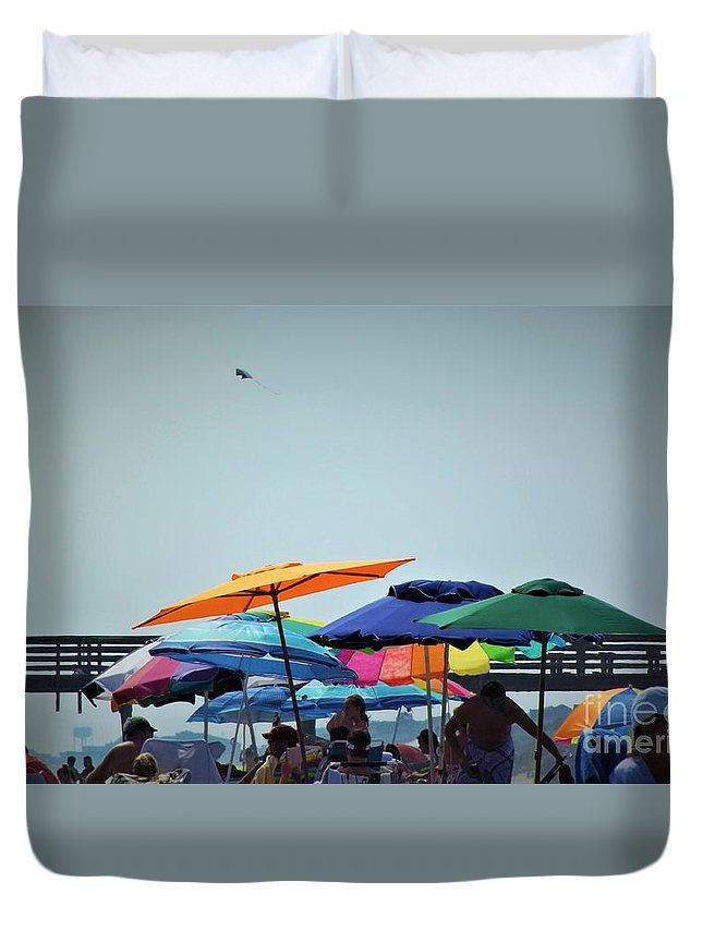 Beach Duvet Cover featuring the photograph Beautiful Day For The Beach by Dee Winslow