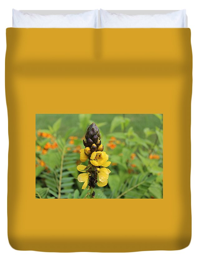 Beautiful Yellow Duvet Cover featuring the photograph Beautiful Flower by Wesper Sieh