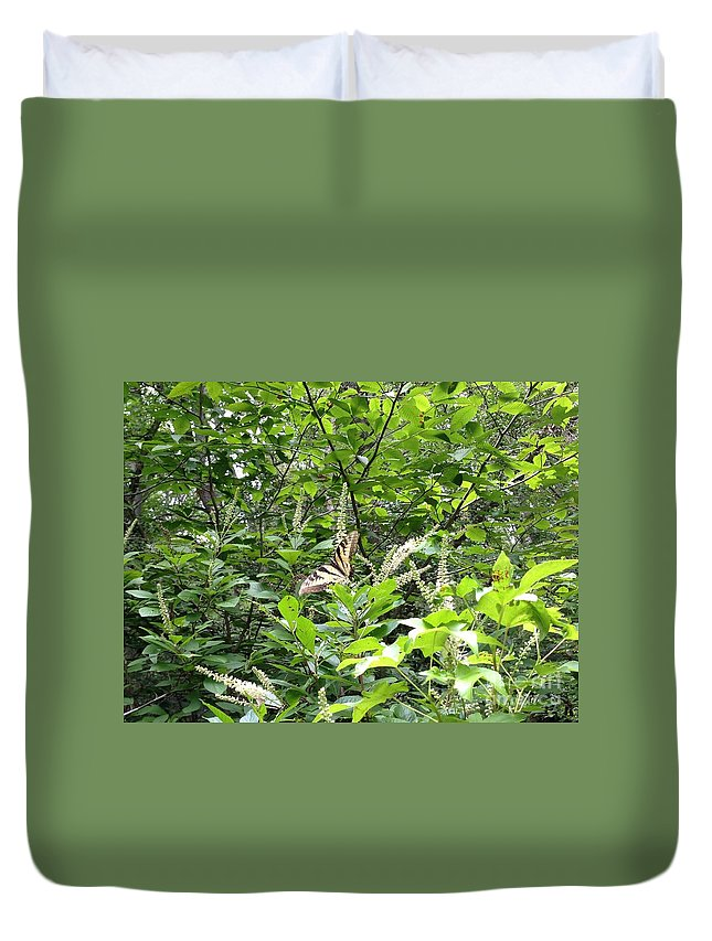 Butterfly Duvet Cover featuring the photograph Beautiful Landing by Megan Thompson