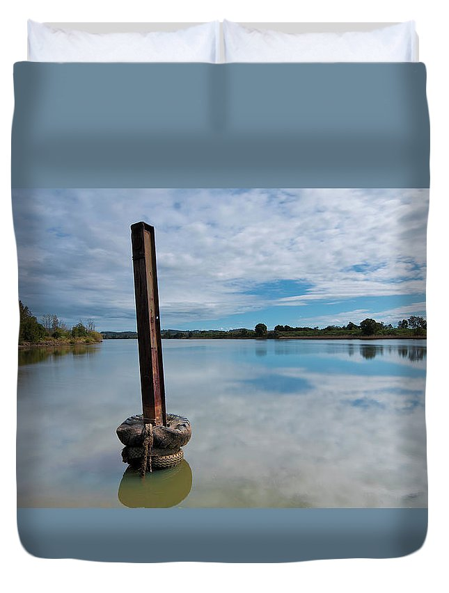 Manning Waters Taree Duvet Cover featuring the photograph Beautiful Manning Waters 6677 by Kevin Chippindall
