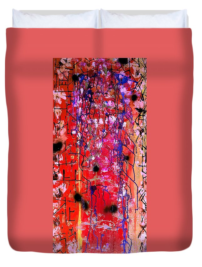 Abstract Art Duvet Cover featuring the mixed media Beautiful Meltdown by Kate Hart Nardone