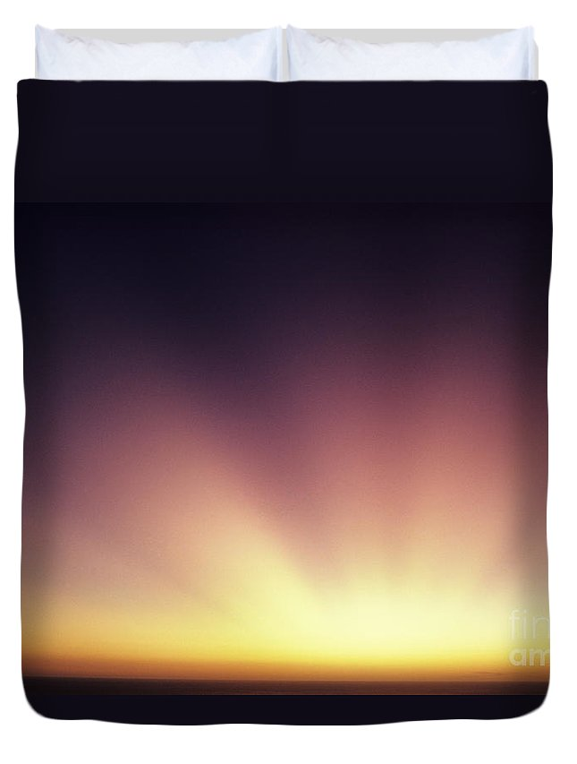 Air Art Duvet Cover featuring the photograph Beautiful Sun Rays by Larry Dale Gordon - Printscapes