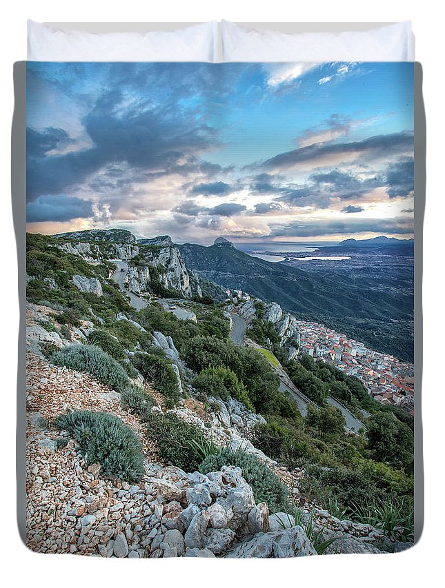 Scenery Duvet Cover featuring the photograph Beautiful View Of Baunei by Daniele Fanni