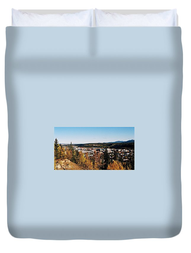 North America Duvet Cover featuring the photograph Beautiful Whitehorse ... by Juergen Weiss
