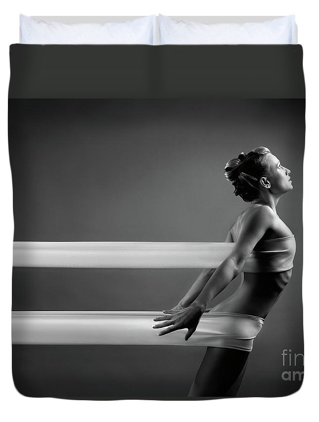 Woman Duvet Cover featuring the photograph Beautiful Young Woman by Oleksiy Maksymenko