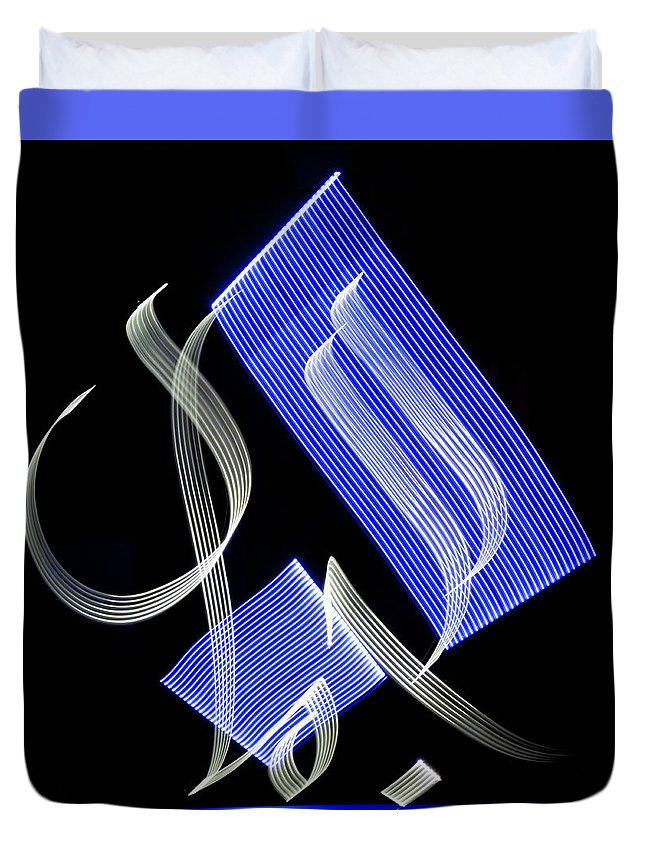 Light Painting Duvet Cover featuring the photograph Beauty - Al Jamal In Arabic by Jz Aamir