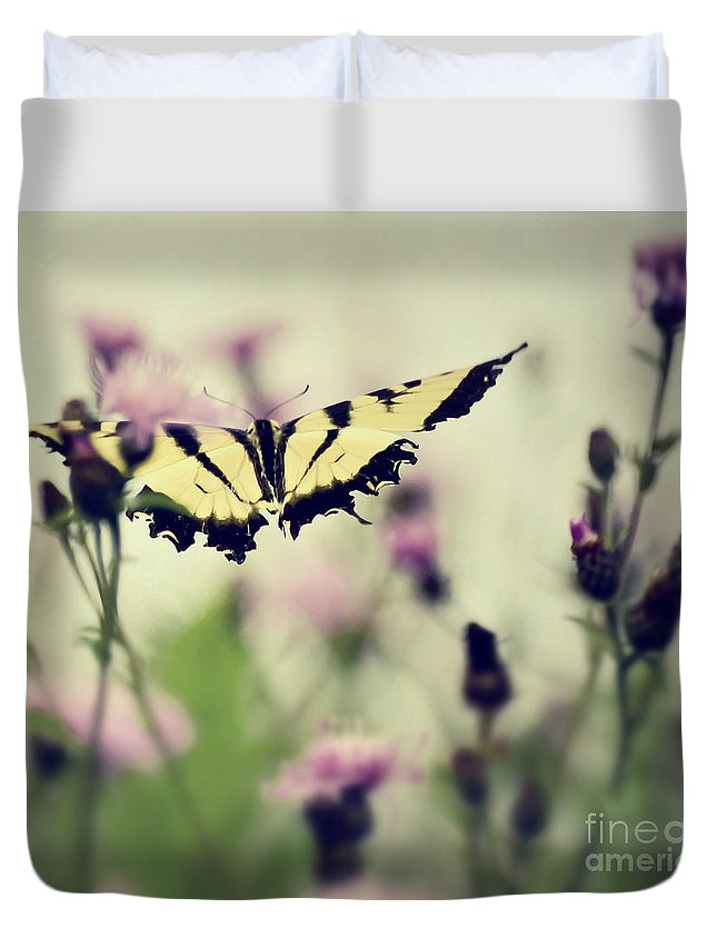 Butterfly Duvet Cover featuring the photograph Beauty And Grace by Kerri Farley