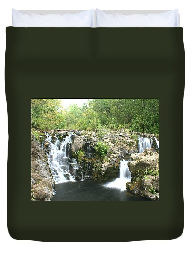 Waterfall Duvet Cover featuring the photograph Beauty Falls by Marty Koch