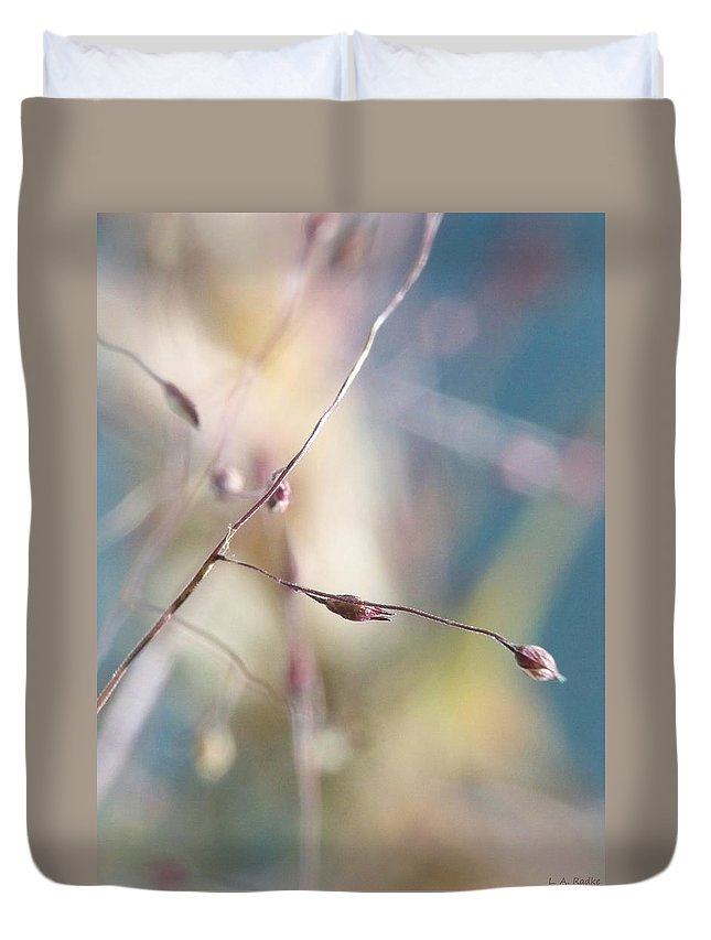 Abstract Duvet Cover featuring the photograph Beauty by Lauren Radke