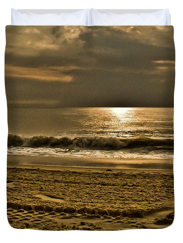 Sand Duvet Cover featuring the photograph Beauty Of A Day by Trish Tritz