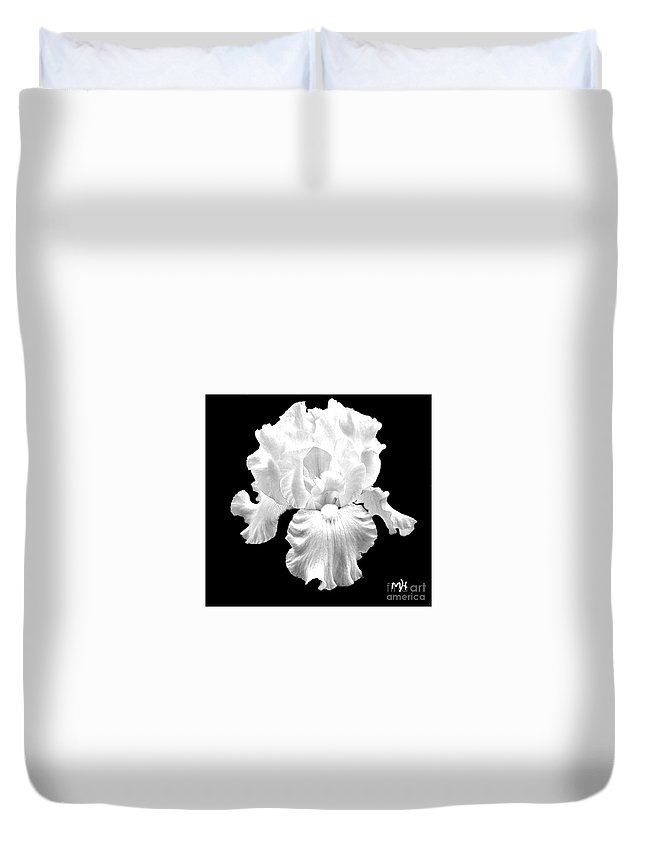 Photo Duvet Cover featuring the photograph Beauty Queen In Black And White by Marsha Heiken