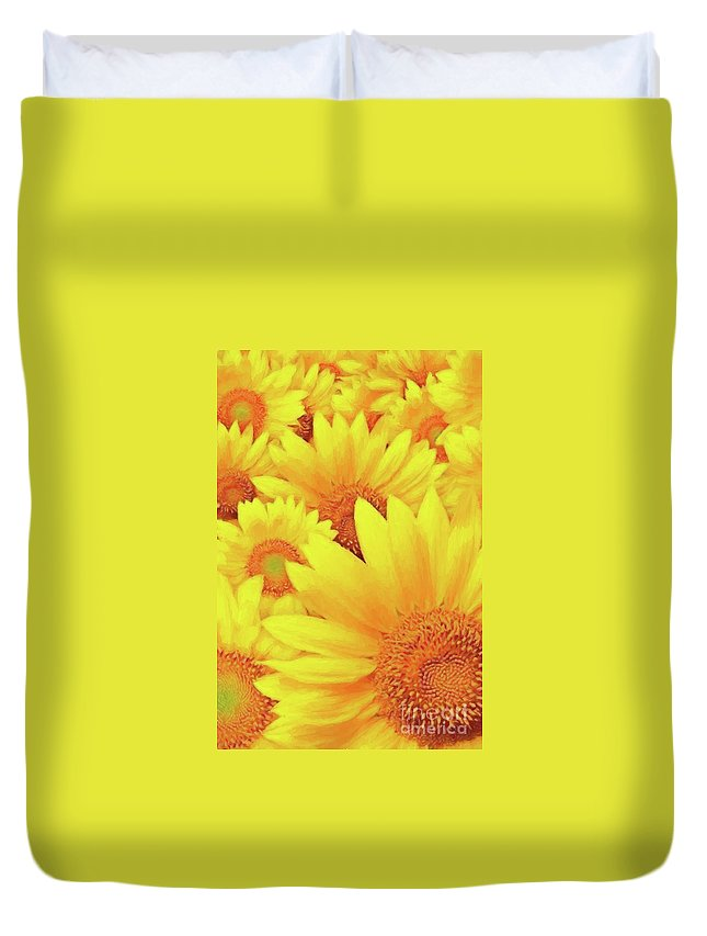 Flower Photographs Duvet Cover featuring the photograph Because I'm Happy by Shae Aja