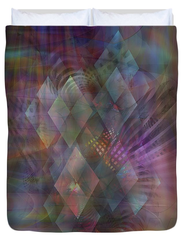 Bedazzled Duvet Cover featuring the digital art Bedazzled by John Beck