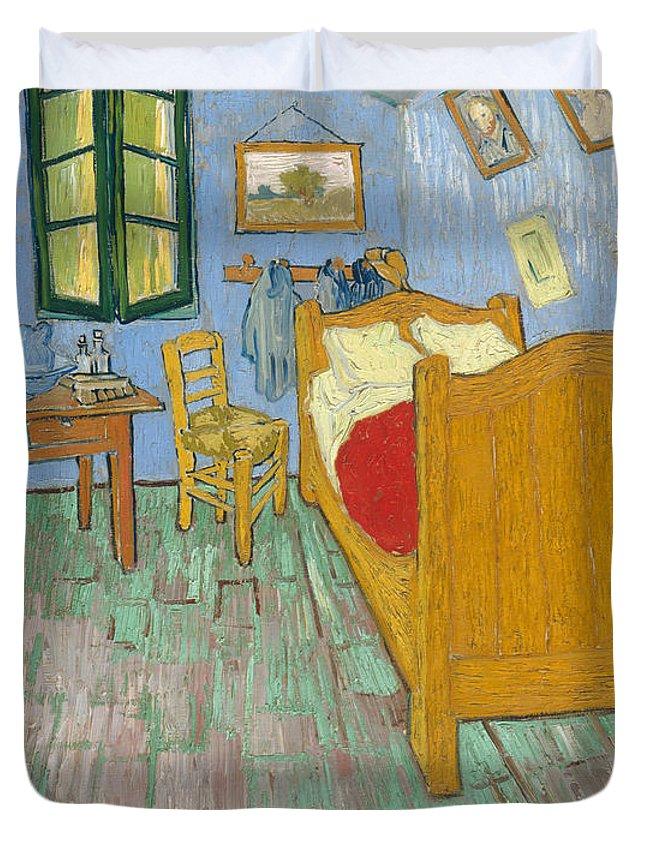 Bedroom At Arles Duvet Cover featuring the painting Bedroom At Arles by Van Gogh