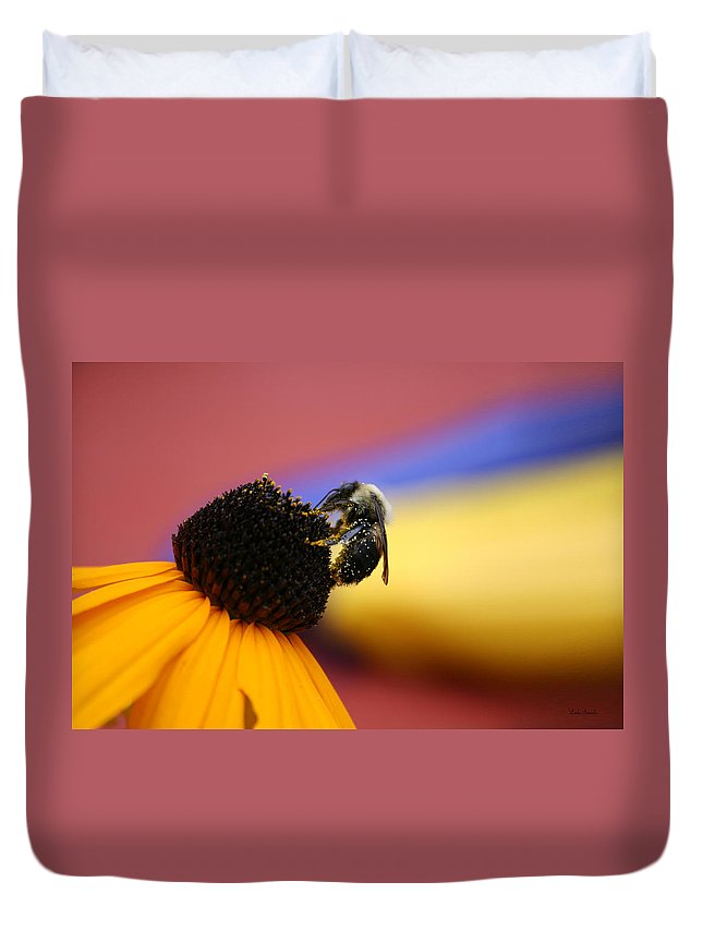 Insects Duvet Cover featuring the photograph Bee All You Can Bee by Linda Sannuti