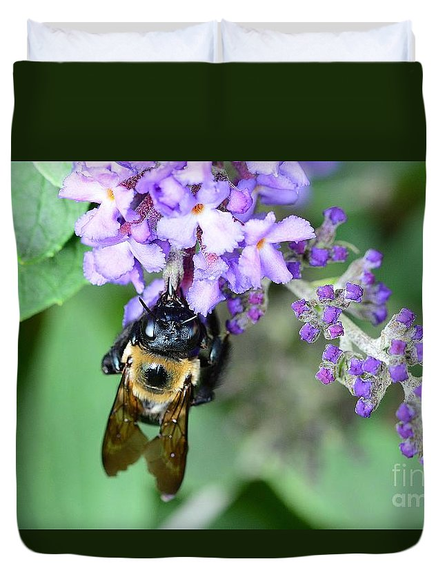 Bee Duvet Cover featuring the photograph Bee-lieve by Cindy Manero