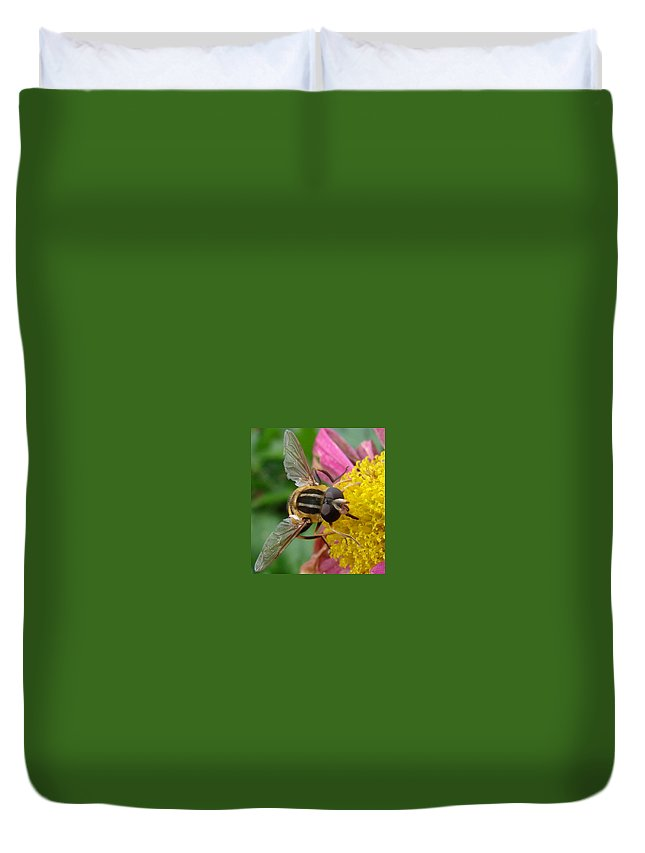 Bees Duvet Cover featuring the photograph Bee by Mary Halpin